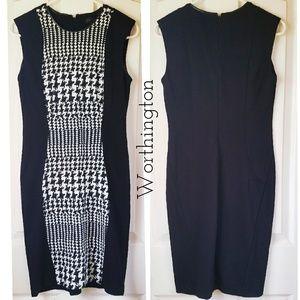 🍃 Worthington Sleeveless Houndstooth Dress